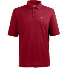 St. Louis Cardinals Antigua Embroidered Pique Xtra-Lite Red Polo Golf Shirt