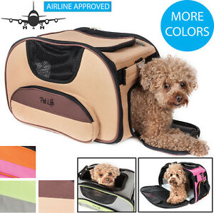 Airline Approved Sky-Max Modern Collapsible Travel Pet Dog or Cat Carrier Bag