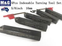 5pcs carbide indexable turning tool Lathe Metal  16mm,12mm,1/2  5/8