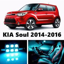 11pcs LED ICE Blue Light Interior Package Kit for KIA Soul 2014-2016
