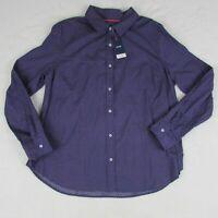 IZOD Men's Long Sleeve Button up Shirt Size XL Dark Purple