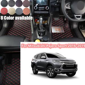 For Mitsubishi Pajero Sport 2016-2019 Customs Floor Mat Auto Foot Mat Pad RHD