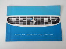 Original Ferrari 410 Superamerica Coupe Pininfarina Sales Brochure Manual 250
