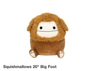 """RARE Kellytoy Squishmallows Benny the Bigfoot LARGE 20"""" 20 inch NEW! Confirmed"""