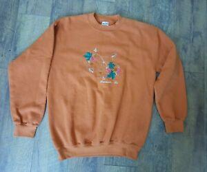 Gildan Women's Size M Sweatshirt Rust Orange Fall Leaves Branson, MO Crew Neck