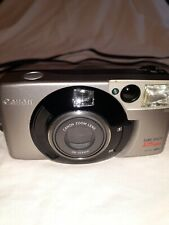 Canon Sure Shot 105 Zoom 35mm Point & Shoot Film Camera Saf with manual.