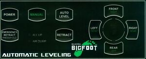 Bigfoot M37055 Automatic Control Panel