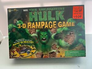 Marvel The Incredible Hulk 3-D Rampage Game by Roseart 2003 STILL SEALED