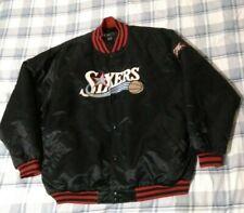 VTG Philadelphia 76ers satin jacket black NBA fusion Reebok men SZ xl