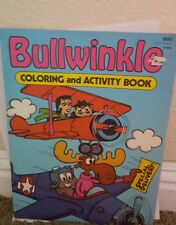 UNUSED Bullwinkle coloring and Activity book RARE