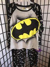 Batgirl License Large 12-14 Multi-Color Batman Minky Pajama Sleepwear Set NWT