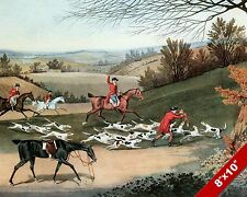 DEATH OF THE FOX HUNT HORSE FOXHUNTING HUNTING ART PAINTING REAL CANVAS PRINT