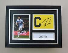 Clint Hill Signed A4 Photo Framed Captain Armband QPR Autograph Display + COA