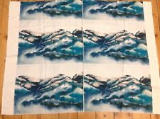 Harlequin, Kailani, marine fabric. Seascape blue.  Cushion panels