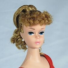 Vintage Ponytail Barbie #850 Blonde Pink Lips 1963 Original Swimsuit BEAUTIFUL