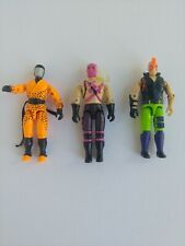 G.I. Joe Zartan, Slice, Banzai, Ninja Force Figure Lot ARAH 90's Figures
