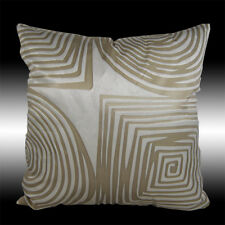 """ABSTRACT BEIGE SQUARE CIRCLE SOFT VELVET CUSHION COVER THROW PILLOW CASE 17"""""""