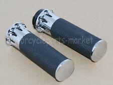"""1""""25mm Chrome Handle Bar Hand Grips For Harley Sportster Touring Dyna Softail"""