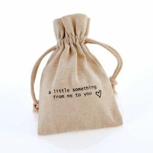 Linen Drawstring Gift Bag Pouch