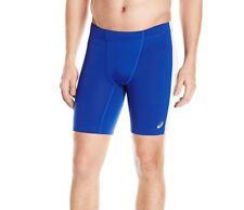 ASICS Enduro Track and Field Running Shorts, Royal/White, Size XL