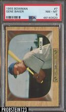 1955 Bowman #7 Gene Baker Chicago Cubs PSA 8 NM - MT