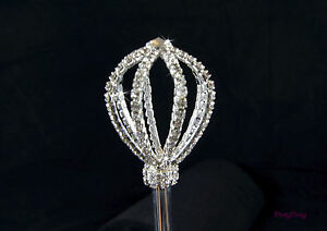 Scepter Wand Princess Wedding Bridal Sweet Sixteen Party Rhinestone Crystals New