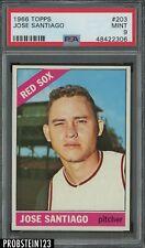 1966 Topps #203 Jose Santiago Red Sox PSA 9 MINT