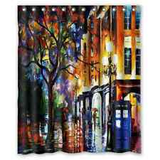 New Design Custom Colorful Doctor Who Waterproof Fabric Shower Curtain 60x72