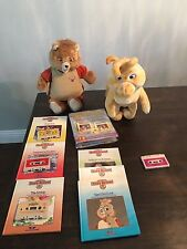 1985 1st Gen Vintage Teddy Ruxpin & Grubby with Books & Tapes Missing Cord *Read