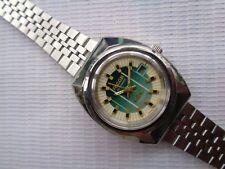 Dial Ricoh Japan Women'S Automatic Wristwatch Rare Vintage Ss 26 mm Green