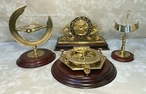 Vtg Franklin Mint Maritime Barometer Sundial Compass Other Pieces 1994