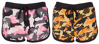 Womens Camouflage Hot Pants Ladies Army Military Camo Stretch Summer Shorts