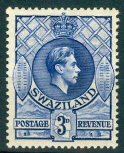 SWAZILAND 1938 KGV 3d. BLUE (ID:877/D27632)