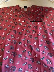 Scrub Top Men's Size L Alabama Crimson Tide Roll Tide Football Basketball