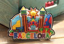 Barcelona Wahrzeichen Spanien Reiseandenken 3D Weichgummi Kühlschrank Magnet
