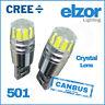 2 x T10 501 W5W CAR SIDE LIGHT BULBS ERROR FREE CANBUS WEDGE LED XENON 12V HID