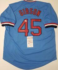 BOB GIBSON Signed  St LOUIS CARDINALS COOPERSTOWN jersey SZ XL. JSA