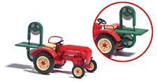 Busch 50011 - 1/87 Tractor Porsche Junior k con Bandsägenanbau - Rojo - Nuevo