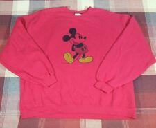 Disney Store Mickey Mouse Sweatshirt Red XXL Men's Size 2XL