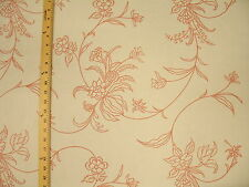 Rose blush & white Romantic cottage chic Floral vine Upholstery Drapery fabric
