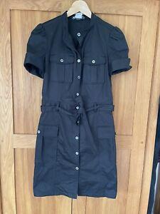 Paul & Joe Black Cotton Stretch Shirt Dress WORN ONCE Size 40/10
