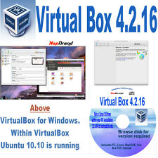 Run Simultaneous Multiple O/S -Windows, MAC Linux, OS X, Virtual Box 32 & 64 bit