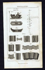 Ice Boat -1808 Invention Technology Antique Copper Engraved Print