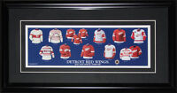 Detroit Red Wings Jersey evolution NHL Hockey Memorabilia Collector Frame