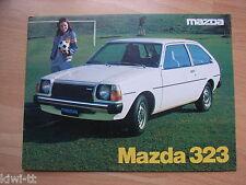 Mazda 323 (1000, 1300, 1400) + 323  Farmari Prospekt / Brochure, SF, 8.1978