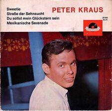 """7"""" Peter Kraus – EP: Sweetie + 3 // Germany 1962"""