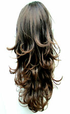 Reversible Dark Brown Auburn Pony Tail Hair Extension