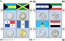 2010 ~ UN COIN & STAMP SERIES ~ 3 Sheets NH(NY-GEN-VIE)