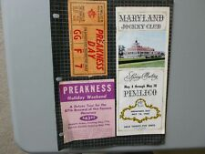 1963 PREAKNESS PROGRAM AND ADMISSION TICKET ON SCRAPBOOK PAGE