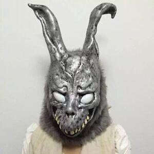 Donnie Darko FRANK the Bunny Rabbit MASK Latex Overhead with Fur Adult Costume